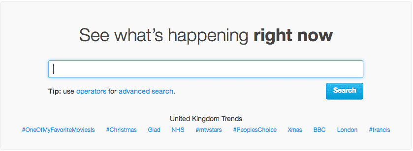 Twitter - Advanced Search
