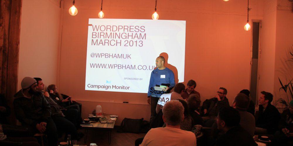 Wordpress Birmingham March 2013