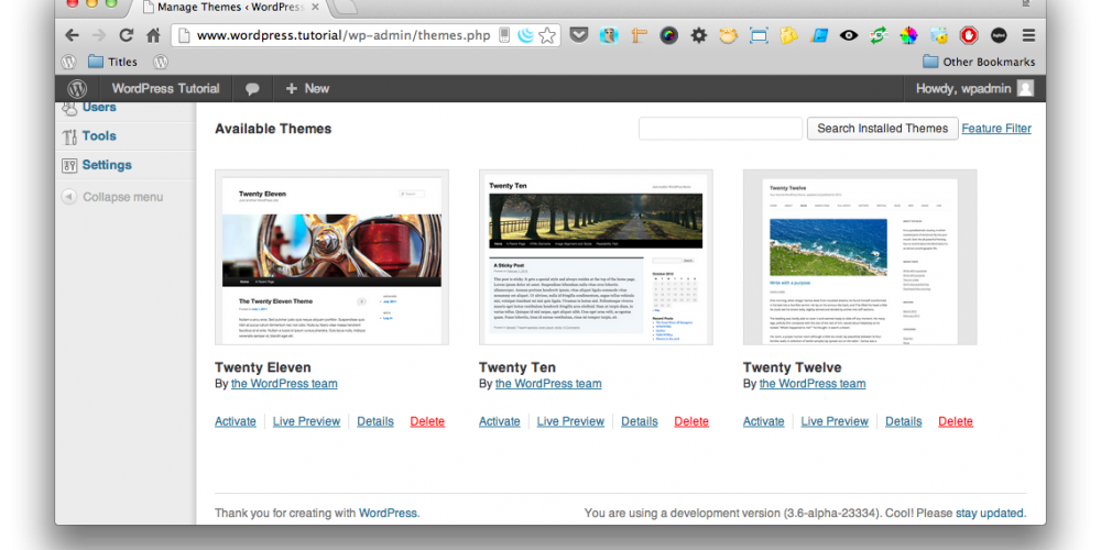 WordPress Quick Tips - Adding a screenshot to your WordPress theme
